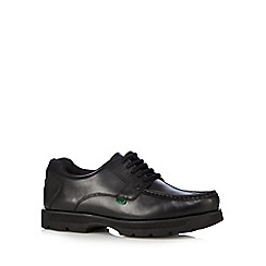 Kickers - Black 'Bosley' leather lace up shoes