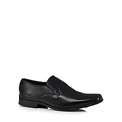Kickers - Black 'Ferrock Slip 2' leather slip on shoes