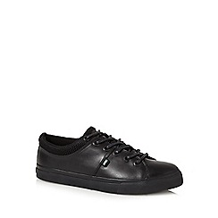 Kickers - Black 'Tovni' leather lace up shoes