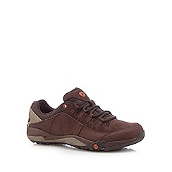 Merrell - Brown suede lace up performance trainers