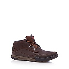 Merrell - Brown leather lace up hiking boots