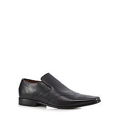 Jeff Banks - Designer black slip on brogues