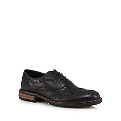 Red Tape - Black leather oxford brogues