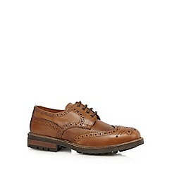 Red Tape - Brown leather lace up brogue shoes