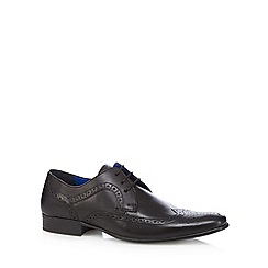 Red Tape - Black leather lace up brogues