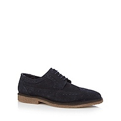 Red Tape - Blue suede brogues