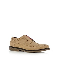 Red Tape - Taupe suede brogues