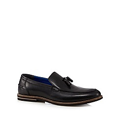 Red Tape - Black leather tassel loafers