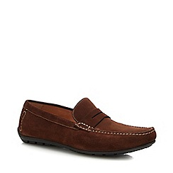 Red Tape - Brown two tone slip on shoes