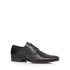 Red Tape - Black leather punched toe lace up shoes
