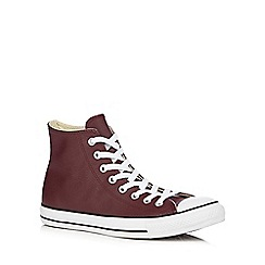 Converse - Dark red high top trainers