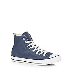 Converse - Navy leather trainers