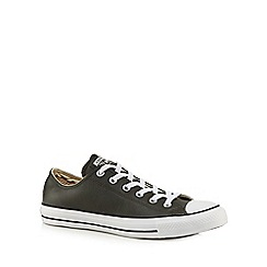 Converse - Dark grey leather trainers