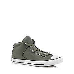 Converse - Olive leather trainers