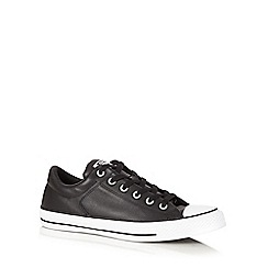 Converse - Black leather trainers