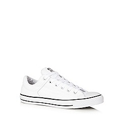 Converse - White leather trainers