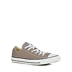 Converse - Grey leather trainers