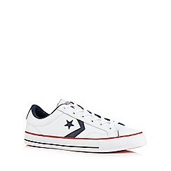 Converse - White canvas applique trainers