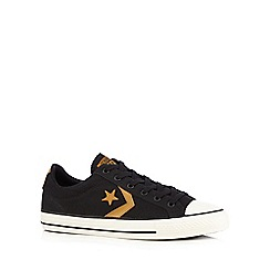 Converse - Black canvas applique trainers