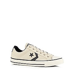 Converse - Cream canvas applique trainers