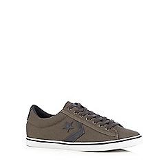 Converse - Dark grey canvas applique trainers
