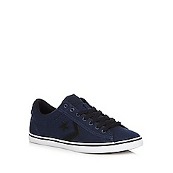 Converse - Navy lace-up converse