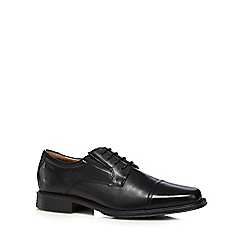 Clarks - Black 'Driggs Cap  leather shoes
