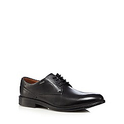 Clarks - Black leather 'Chilver Walk GTX' shoes