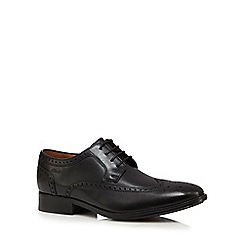 Clarks - Black leather 'Kolby Limit' brogues