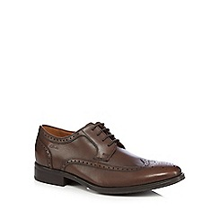 Clarks - Brown 'Kolby Limit' leather brogues