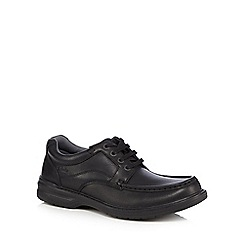 Clarks - Black leather 'Keeler' shoes