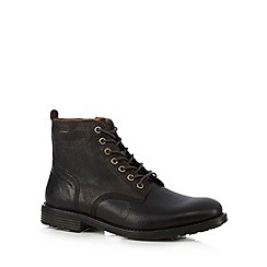 Clarks - Dark brown 'Faulkner Rise' leather boots