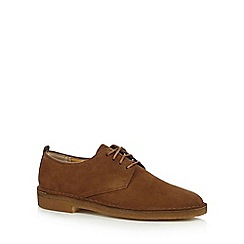 Clarks - Dark brown 'Original Desert London' leather desert boot