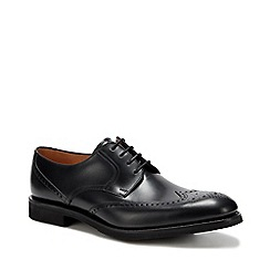 Clarks - Black 'Banfield' leather brogues