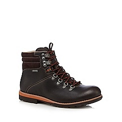 Clarks - Dark brown 'Alp GTX' leather ankle boots