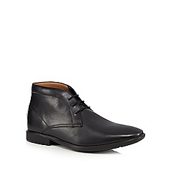Clarks - Black 'Gosworth' leather Chukka boots