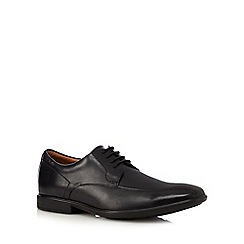 Clarks - Black 'Gosworth Over Tramline' leather lace up shoes