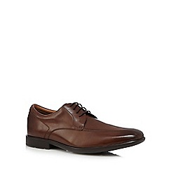 Clarks - Brown leather 'Gosworth' shoes
