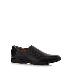 Clarks - Black leather 'Gosworth' shoes