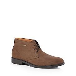 Clarks - Dark brown suede 'Chiver' chukka boots