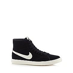 Nike - Black 'Primo Court' leather mid cuff trainers