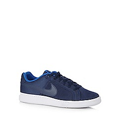 Nike - Navy 'Court Royale Plus Q3' lace up trainers