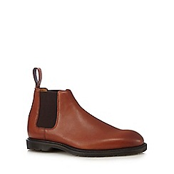 Dr Martens - Tan leather 'Wilde' Chelsea boots