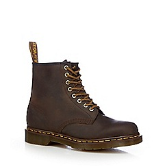 Dr Martens - Dark brown leather ankle boots