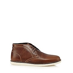 Red Tape - Brown 'Crumlin' leather boots