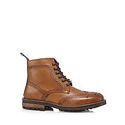 Red Tape - Tan 'Devlin' leather brogue boots