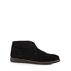 Red Tape - Black 'Mayo' suede brogue chukka boots