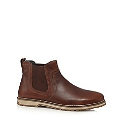 Red Tape - Brown 'Newry' leather Chelsea boots