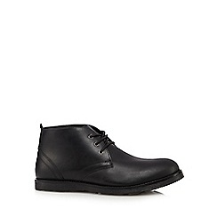 Red Tape - Black 'Tiffey' leather lace up boots
