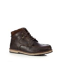 Red Tape - Dark brown 'Reelan' Derby boots